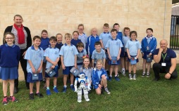 NAO the human robot visits West State School
